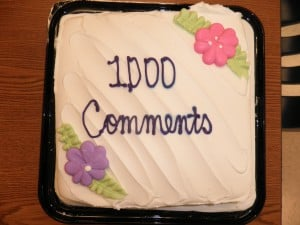 Our 1,000 Comment Cake