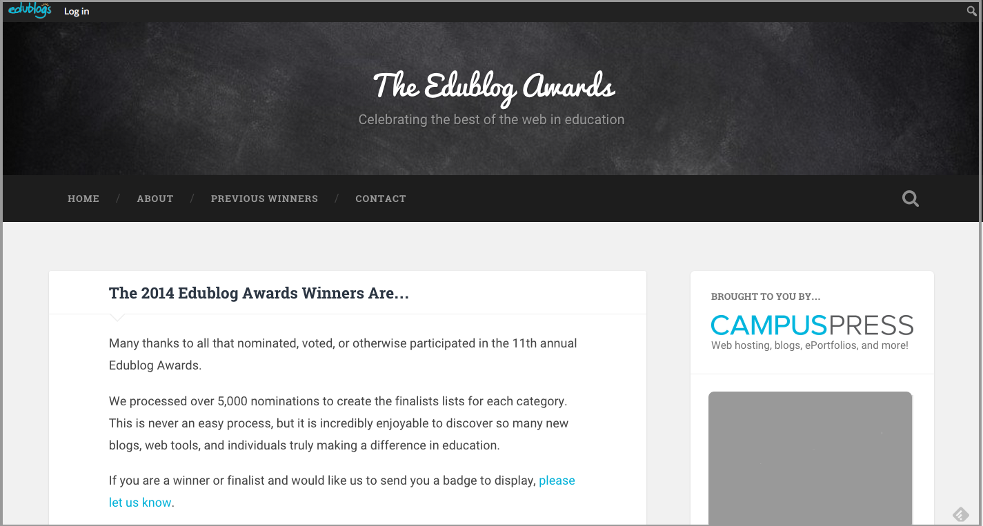 The Edublog Awards | Celebrating the best of the web in education